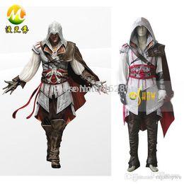 Wholesale Ezio Figure - Wholesale-Anime Game Cos Clothes Figure Assassin's Creed II Ezio Auditore da Firenze Cosplay Costumes Halloween Adult Men Custom Made