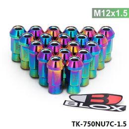 Wholesale High Quality Nuts - 20pcs Set Blox Forged 7075 Aluminum High Quality Lug Nuts P: 1.5, L : 50mm TK-750NU7C-1.5
