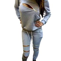 Wholesale Painting Velvet - S5Q Women Fashion Sexy Slim Plus Velvet Long Sleeved Zipper Casual Sweater Suit AAAFPX