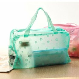 Wholesale Transparent Toiletries Bag - Transparent waterproof portable travel essential portable wash bag waterproof cosmetic bath bathroom toiletries pouch bag toiletry bags