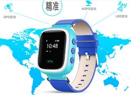 Wholesale Child Gps Gsm Watch - 1pcs Smart Phone Watch Children Kid Wristwatch Color GSM GPRS GPS Locator Tracker Anti-Lost Smartwatch Child Guard for Android Q60
