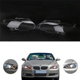 Wholesale Headlamp Bmw - Left   Right Headlight Headlamp Lens Cover Plastic shell For BMW 3 Serise E92 Coupe   E93 convertible M3 335i 328i 2006-2010 #PDK680