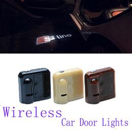 Wholesale Led Door Projector Audi - 2 X9TH Car Led Door Audi A4 A6 A6L R8 Q5 Q7 TT A1 Q3 S line Lights Logo Projector Welcome door light