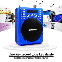 Wholesale Mp3 Player Support U Disk - Portable MP3 FM Radio Multifunction Megaphone Support Micro SD TF Card U Disk USB Speaker For Teaching Tour Guide Sale Promotion