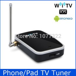 Wholesale Isdb Tv Receiver - Wholesale-Free shipping Wholesale WiTV on your Pad Phone Android Devices PC Watch DVB-T TV or ISDB-T One Seg WiFi TV Receiver TV Tuner