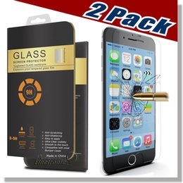 Wholesale Iphone Touch Screen Wholesale - 2 Packs For iPhone X 8 7 Plus Screen Protector Tempered Glass For Samsung S8 3D Touch Compatible 0.26mm 2.5D Rounded Edge