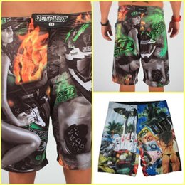 Wholesale Beach Boardshorts - 2017 Hot Men's Board Shorts Surf Trunks Swimwear with Wax Comb Twin Micro Fiber Boardshorts Beach Short 30 32 34 36 High quality Jet Unit