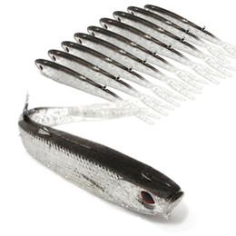 2019 japão atacado ganchos de pesca 20 pcs 10 cm 4g 3D Olhos Peixe Biônico Silicone Isca De Pesca Iscas Soft Iscas Artificiais Isca de Pesca Equipamento De Pesca acessórios