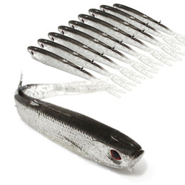 20 unids 10 cm 4g 3D Ojos Bionic Peces de Silicona Señuelos de pesca Señuelos blandos Señuelos Cebo Artificial Pesca Aparejos de pesca Accesorios desde fabricantes