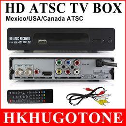 Wholesale Wholesale Digital Converter Boxes - HD 1080P Digital TV BOX ATSC Set Top Box HDMI Converter BOX Satellite Receiver for Mexico USA Canada