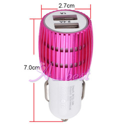 Wholesale Price Iphone Leads - 2.4A 2 port USB car charger with LED light RED indicator for moible phone Wholesale price