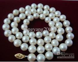 Commercio all'ingrosso - 9-10mm genuino collana di perle bianche del mare del sud 18 '' 14K da