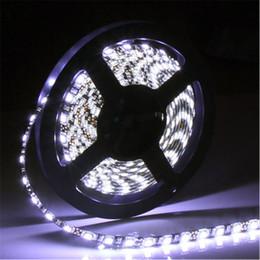 Wholesale Wholesale Black Light Leds - Waterproof led strip 16FT 5050 RGB LED Strip 5M 300 Leds SMD 12V DC Black PCB Board flexible LED Light Strip 12V Christmas Strips light new