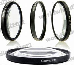 Wholesale Macro Close Up Filter Kit - 52 mm UV CPL FLD Filter Kit + Lens Hood + Cap + Macro Close Up Lenses for Nikon D50 D70 D90