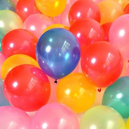 Wholesale Black Ballons - 100pcs lot Pearlite Balloon 10inch NO.6 1.5g Ballons Latex Round Ball Colorful For Wedding Party Event Decorations