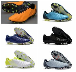 Wholesale Blackout Soccer Cleats - 2018 original soccer cleats magista obra fg mens soccer shoes soft ground football boots cheap Magista Opus II FG cheap blackout Orange Red