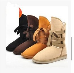 Wholesale Cheapest Leather Boots - Fashion Women winter Snow boot ,fur half boots for ladies size:US4---US9 cheapest boots free shipping