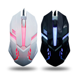 Wholesale Computer Parts Laptops - New Aggravate Notebook Mouse Platform Machine For Work Or Affairs Game Luminescence Wired USB Mouse Computer Parts Mouse HFSJK028-3