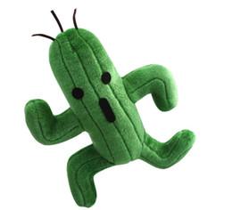 Fantasia finale della bambola online-25cm Final Fantasy Cactus Cactuar Peluche Green Plant Farcito Bambole con Tag Regalo di Natale trasporto veloce