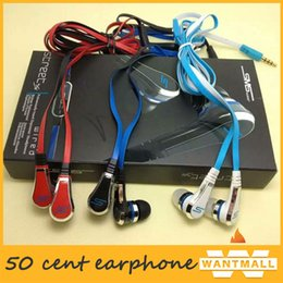Wholesale Sms Audio Street Control - sms audio 50 cent earphone wire in-ear headphones 50 cent wired earphone in ear with mic control STREET by 50-Cent earbud
