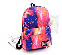 Wholesale Cosmic Print - Fashion Women Girl Canvas Bag Galaxy Print Cosmic Space Backpacks Schoolbag Travelling Backpack Mochila Feminina