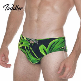 Wholesale Enhancing Pouch Mens Briefs - Mens Sexy Swimwear Swimsuits Brand Men Swimming Briefs Pocket Inside Pad Pouch Enhance Frontal Gay Penis Swim Surf Board Shorts