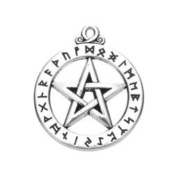 Wholesale Wiccan Charms Wholesale - Religious Pentagram Wiccan Charms Pendant For Antique Silver Plated Accessory Gifts Findings&Components Customizing DIY For Jewelry Making