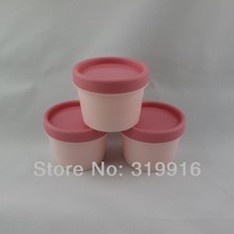 Wholesale Cosmetic Wholesale Suppliers - 100g x 20 empty cylinder mask PP bottle, round facial mask cream jars containers refillable jars supplier empty cosmetic pot