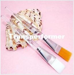 2020 al por mayor pinceles de maquillaje de cristal Envío gratis al por mayor 600 unids / lote nuevas herramientas cosméticas producto cepillo para cara de maquillaje máscara de cristal transparente cepillo RJ1198 al por mayor pinceles de maquillaje de cristal baratos