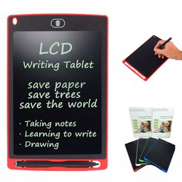 Wholesale Magnetic Stylus - 8.5 inch LCD Writing Tablet Touch Pad Office Memo Board Magnetic Fridge Message with Ultra Bright Upgraded Stylus