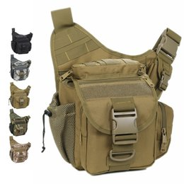 Wholesale Cycling Messenger Bags - Wholesale-Army Messenger camera bag men women outdoor cycling casual saddle bag Tactical camouflage Durable single shoulder bag