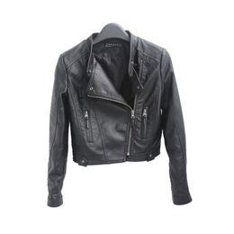 Wholesale Nylon Biker Jacket - 2016 New HOT Fashion Black Women Short Faux Leather Zip-Up Cropped PU Leather Jacket, Biker Jacket