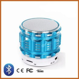 Wholesale Steel Player - Mini Bluetooth Speaker S28 Metal Steel Wireless Smart Hands Hi fi speaker With FM Radio Support SD Card Colors Mixed US010