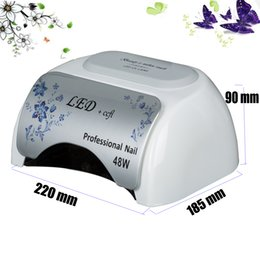 Wholesale Nails Designs White - Unique design UV nail lamp 48W LED & CCFL for nail Gerr Dryer curing polish Tool lights stock in US DE CA AU