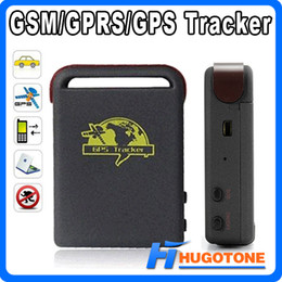 Wholesale Spy Car Gps Tracking Device - Personal Spy Car GPS Tracker TK102 Quad Band Global Online Vehicle Tracker TF Card Offline Real Time GSM GPRS GPS Tracking Device