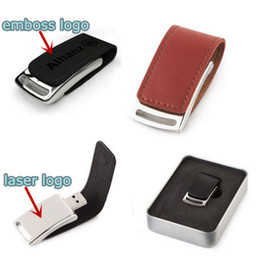 Wholesale Flash Thumb Drives - 2017 New arrival Leather case 64GB 128GB 256GB USB Flash Drive thumb drive for Windows IOS Android system tablet PC