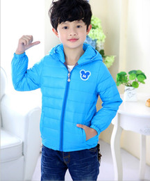 Wholesale Duck Outfits - The new qiu dong outfit 2015 wholesale children's coat Private embroidered hooded jacket factory direct sale BH1324