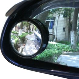 Wholesale Small Adjustable Mirrors - Wholesale-2 X Car Rear View Small Round Wide Angle Mirror Adjustable Free Shipping