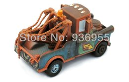 Wholesale Tow Mater Diecast Car - Wholesale-100% Original Free Shipping Pixar cars 2 Diecast metal cars Toys 1:55 scale crew Mater Trailer Tow Mater #51 Loose Xmas Gift