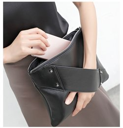 Wholesale Handbag Rivet Lady Wallet Clutch - Hot Sale Fashion rivet Women Day Clutches Lady Handbag designer clutch purse PU leather famous women bag lady envelope clutch wallet