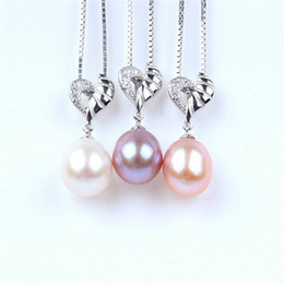 Wholesale Korean Small Pendant Necklace - South Korean star clear and exquisite small jewelry pearl flower Zircon Pendant short term
