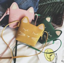 Crossbody-taschen Gepäck & Taschen Kinder Schulter Tasche Mini Katze Ohr Messenger Taschen Einfache Kleine Quadratische Tasche Kinder All-gleiches Schlüssel Geldbörse Nette Prinzessin Handtaschen