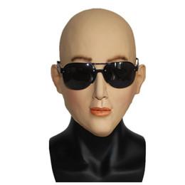 Máscaras de crossdresser online-Máscara de Halloween Máscara de látex femenina Máscaras de disfraces Cosplay de calidad superior Sexy Girl Crossdresser Costume envío gratis
