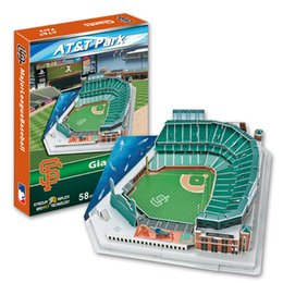 Wholesale New Model Telephone - Wholesale-2015 NEW HOT SALE 3D Three-dimensional puzzle MLB MLB San Francisco Giants home American Telephone and Telegraph stadium model