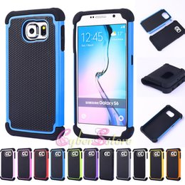 Wholesale Football Cases - For Galaxy S7 Edge S6 Football Armor Hybrid 3 in 1 PC Silicone Shockproof Hybrid Case Cover For Samsung S4 S5 note 5