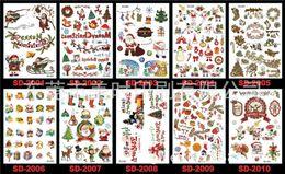 Wholesale Tattoo Sticker Waterproof - Christmas Waterproof Tattoo stickers 36 BOYS TEMPORARY TATTOOS CHILDREN KIDS TOY XMAS GIFT CHRISTMAS STOCKING FILLER