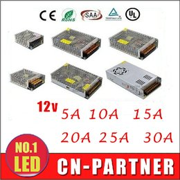 Wholesale 12v 15a Power Supply - 8pcs DC 12V 5A 10A 15A 20A 25A 30A Led Transformer 60W 120W 180W 240W 300W 360W Power Supply For Led Modules Led Strips CE ROHS UL CSA SAA