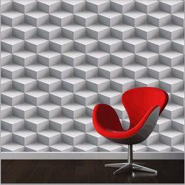 Fondo de pantalla personalizado online-Fondos de pantalla en 3D modernos Personalized Lattice 3D Wall Murals Vinilo Wallpaper Rollo de PVC en papel de pared a prueba de agua para paredes