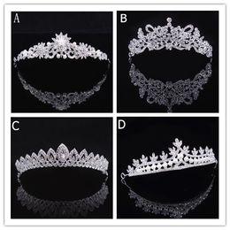 Canada Luxe De Mariée Tiara Couronne Cristal Pageant Accessoires De Mariage De Mariée Bandeau Bandeau De Mariage Tiara Strass Offre