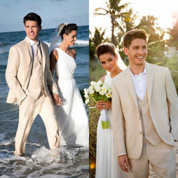 Wholesale Tuxedo Suits Tailored - Custom Made Men Tuxedo Lapel TAN NOTCH tailored suit Luxury and Comfort with An Open Cut Jacket Wedding Mens SuitS with Pants